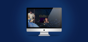 Cinderella Words of Kindness website mockup