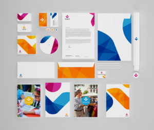 LA Mayor's Fund branding mockup print design