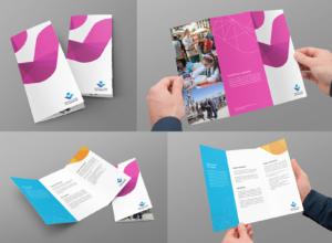 LA Mayor's Fund branding mockup print design brochure