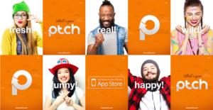 PTCH mobile app app store promotion mockup
