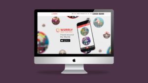 Wurrly mobile app website mockup