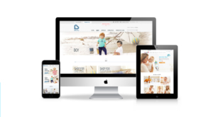 Mbaby ecommerce website mockup
