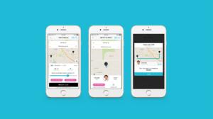 Charlie Ride Free mobile app rideshare mockup