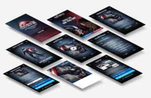 Disney Fankit mobile device responsive user interface