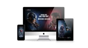 Disney Fankit website responsive mockup