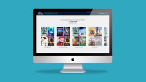 Disney Movie Club website mockup