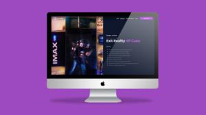 exit reality virtual reality website mockup