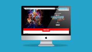Disney Movie Rewards website mockup