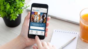 Disney Movie Rewards mobile responsive website mockup