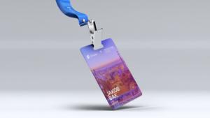 Ericsson Emodo conference badge mockup