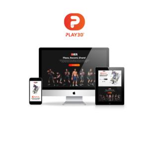 Play 3D website mockup