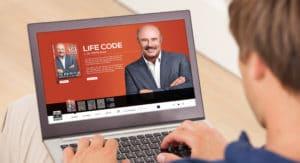 dr. phil life code ecommerce website mockup
