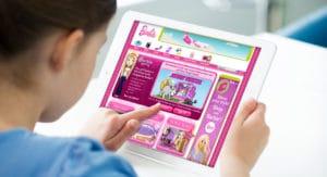 Mattel Barbie website mockup