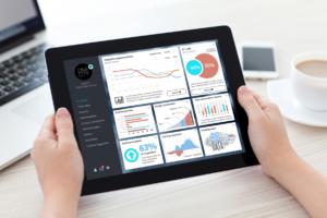 Salesforce One City tablet dashboard mockup